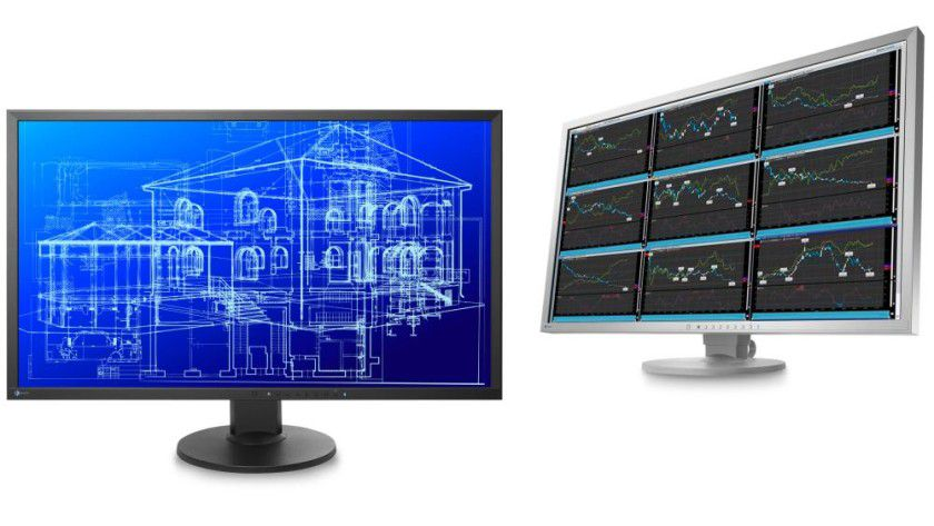 Eizo Flexscan EV3237: Das 31,5-Zoll-Display (80 cm) arbeitet mit 3840 x 2160 Bildpunkten Auflösung.