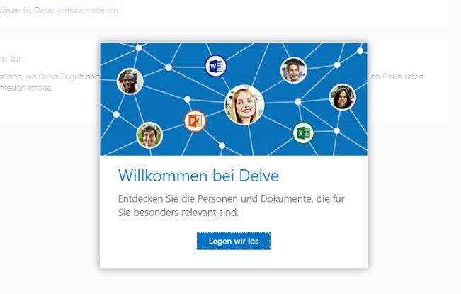 Delve können Sie als SharePoint Website testen.