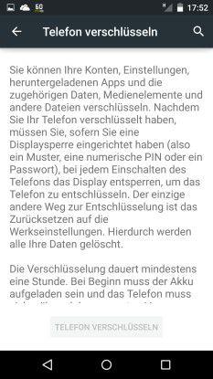 Mehr Sicherheit: Man sollte sein Telefon erst verschlüsseln und dann löschen; so lassen sich Daten auch nach einer Wiederherstellung nicht mehr lesen.