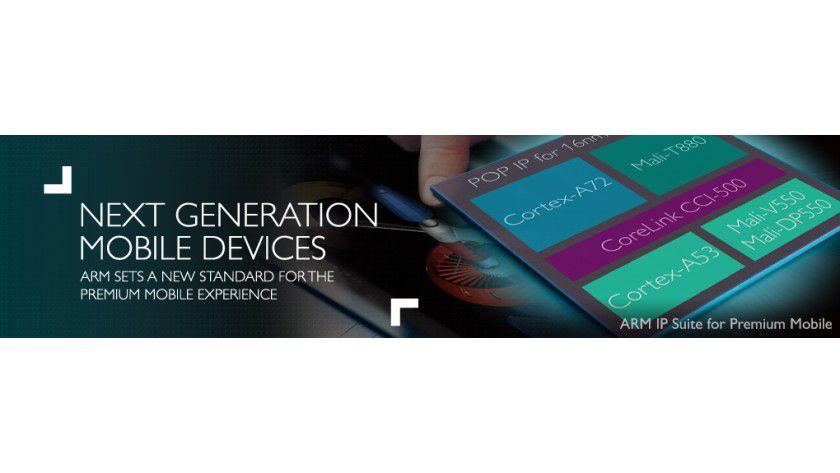 Premium Mobile Experience: Mit dem neuen Chip auf Basis des Cortex A72 will ARM den Energiebedarf um 75 Prozent reduzieren.