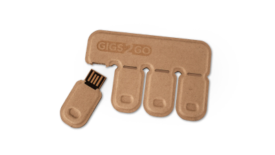 Gadget des Tages: Gigs 2 Go - USB-Sticks aus Recycling-Pappe - Foto: G2G