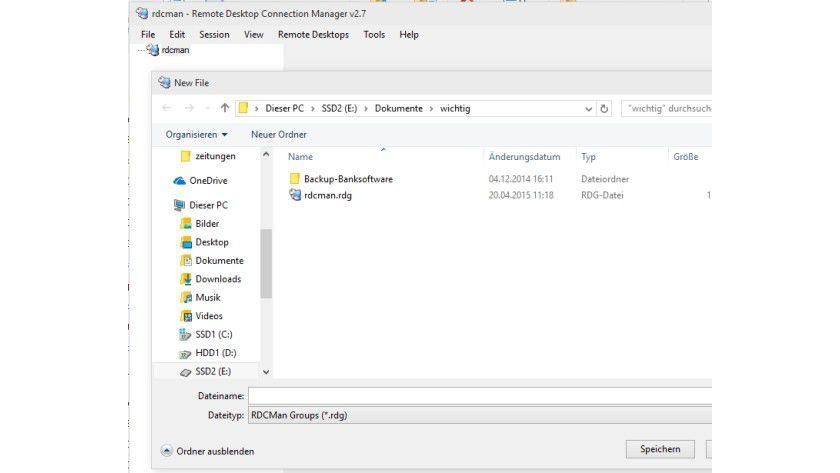 Im Remote Desktop Connection Manager erstellen Sie zunächst eine neue RDCMan-Group. In dieser fassen Sie Ihre Server zusammen, die Sie per RDP verwalten.