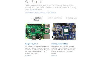 Windows 10 IoT Core Insider Preview: Windows 10 Preview für den Raspberry Pi 2 steht zum Download parat - Foto: Microsoft