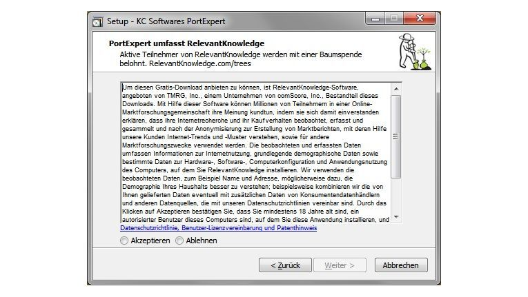Adware: Der konventionelle Installer enthält Zusatzsoftware. Vermeiden lässt sich das nur, indem man die portable Version des Tools nutzt.