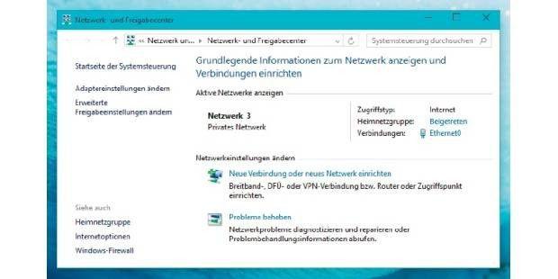 Das Netzwerk- und Freigabecenter dient in Windows in erster Linie der Kontrolle von Einstellungen und der Einrichtung neuer Verbindungen.