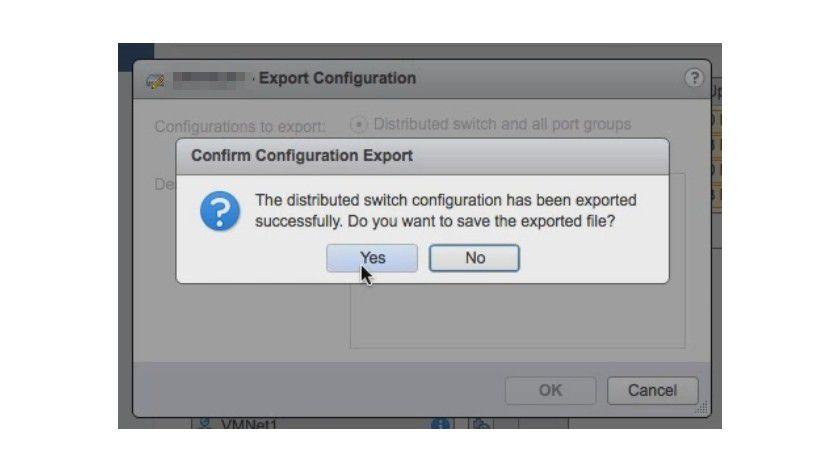 Die Konfiguration von vDS können Sie auch zwischen vCenter-Server übertragen.