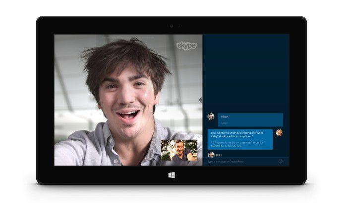 Skype Translator Vorschau: Für Sprachübersetzungen werden nun auch Französisch und Deutsch unterstützt.