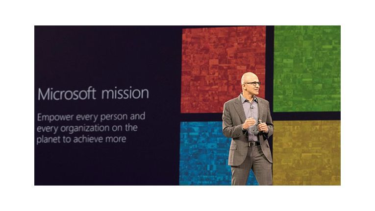 Microsoft CEO Satya Nadella kündigte auf der WPC 2015 einige neue Produkte an.