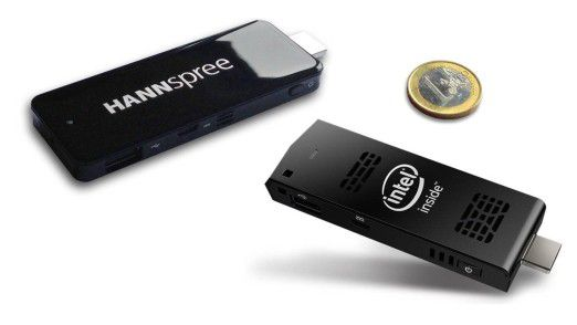 Hannspree Micro PC & Intel Compute Stick: Micro PC im Test - kompletter PC auf einem Stick - Foto: Intel/Hannspree