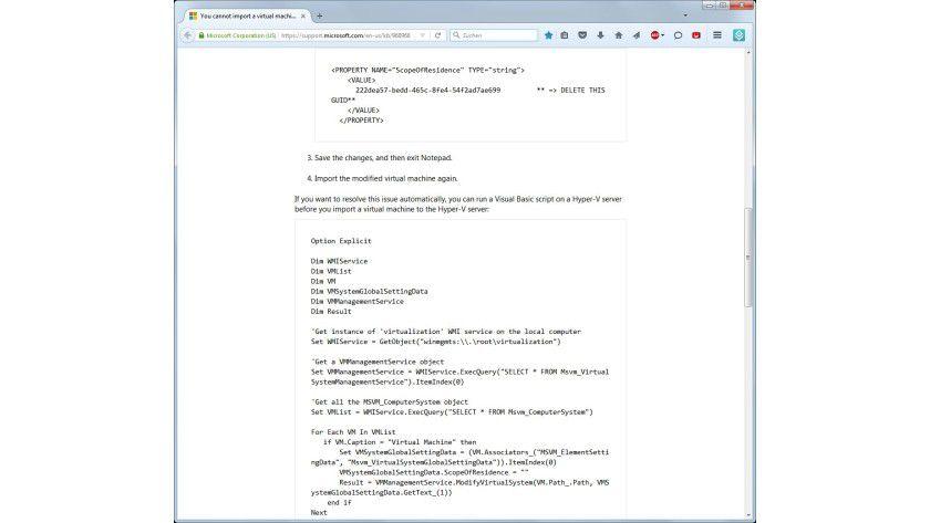 Importprobleme: Für Abhilfe sorgt ein manueller Eingriff in die Exportdatei oder ein Skript von Microsoft.