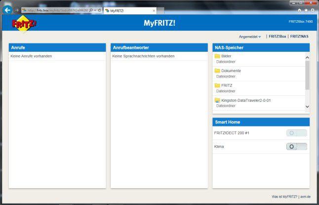 AVM-Internet-Portal: Mit dem MyFritz!-Service bietet AVM den direkten und einfachen Zugriff auf den Fritz!Box-NAS-Speicher über ein Web-Portal an.