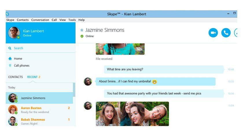 Neue Vorschau-Version von Skype für Windows