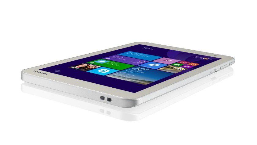 Das Toshiba-Tablet wiegt 370 Gramm und ist 9,3 Millimeter hoch