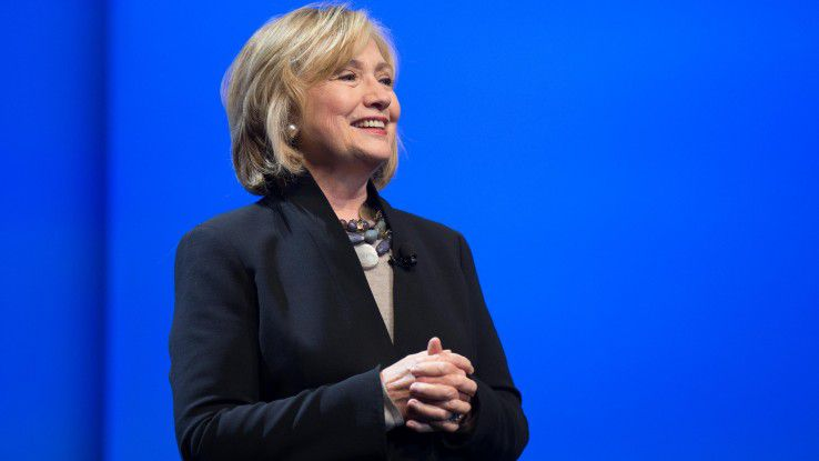 Hillary Rodham Clinton auf der Dreamforce 2014