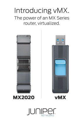 Juniper schrumpft den Router. Die Software des vMX passt auf einen USB-Stick.
