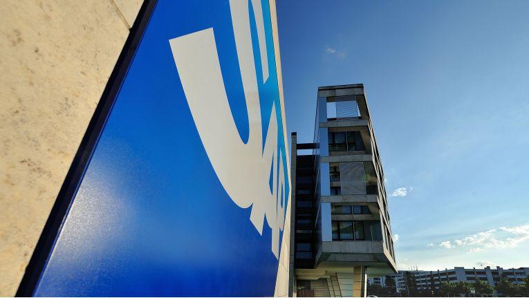 SAP, Logo neben Gästehaus Kalipeh auf dem Campus in Walldorf