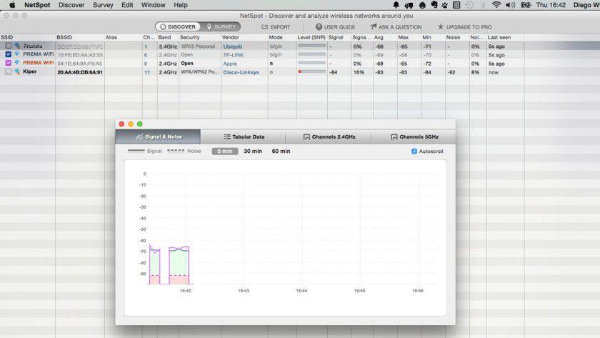 Detailreiche WLAN-Analyse: Das Programm stellt viele technische Details und Charts bereit, mit denen man WLAN-Netzwerke in der Umgebung effizient analysieren kann.