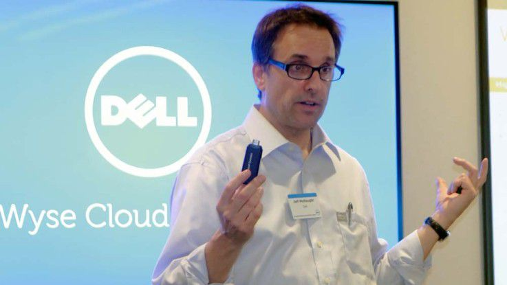 "Jeff McNaught stellte auf dem ""Dell Cloud Client Computing Reviewer's Day"" in Santa Clara die VDI-Strategie des Unternehmens vor."