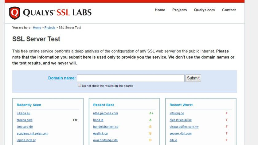 Der SSL Server Test der Qualys SSL Labs bringt Aufschluss, ob eine Website gefährdet ist oder nicht.
