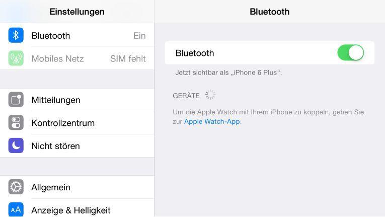 Apple-Watch-Unterstützung in Beta 4 von iOS 8.2