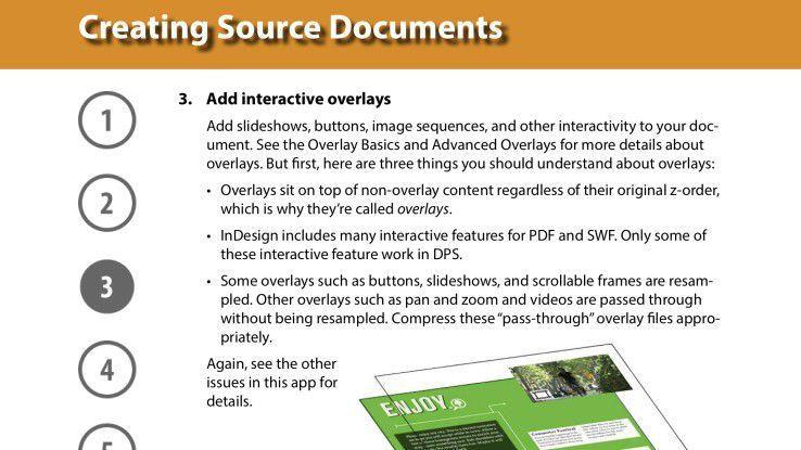 Die App DPS Tips liefert einen sehr guten, kostenlosen Crash-Kurs für Digital-Publishing-Einsteiger.