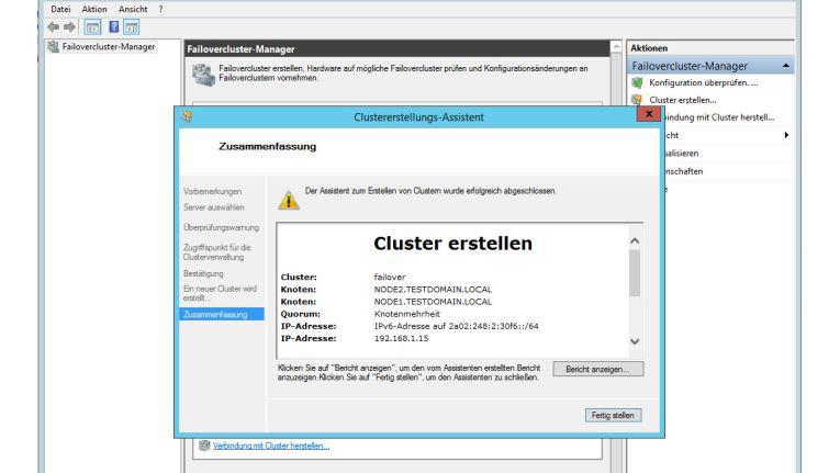 Die Erstellung eines Failover-Cluster mit dem Windows Server 2012R2: Durch Assistenten und den Server Manager ist diese Aufgabe sehr viel einfacher geworden.