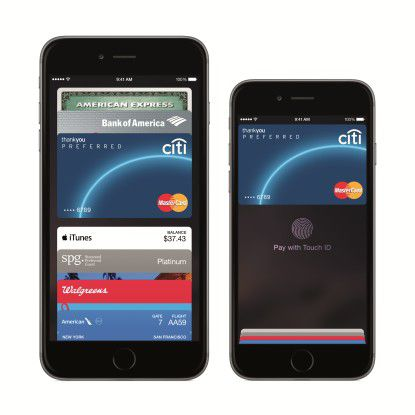 Apple Pay auf dem iPhone 6 und iPhone 6 Plus