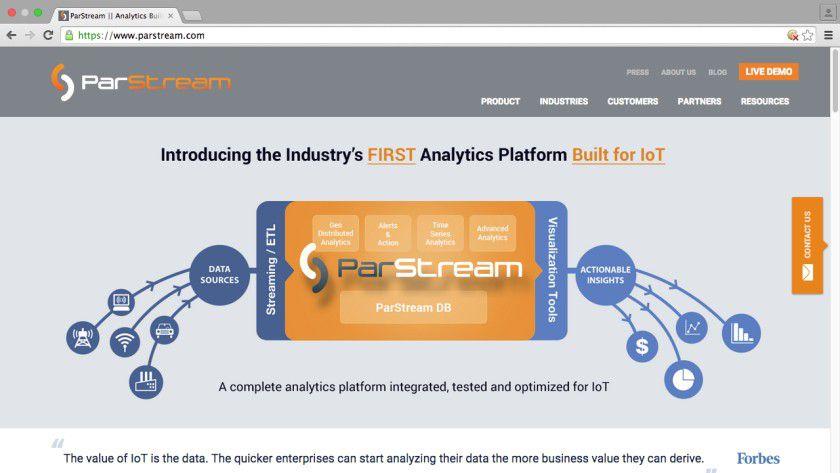 Parstream will eine umfassende Analytics-Plattform für das Internet der Dinge aufbauen.