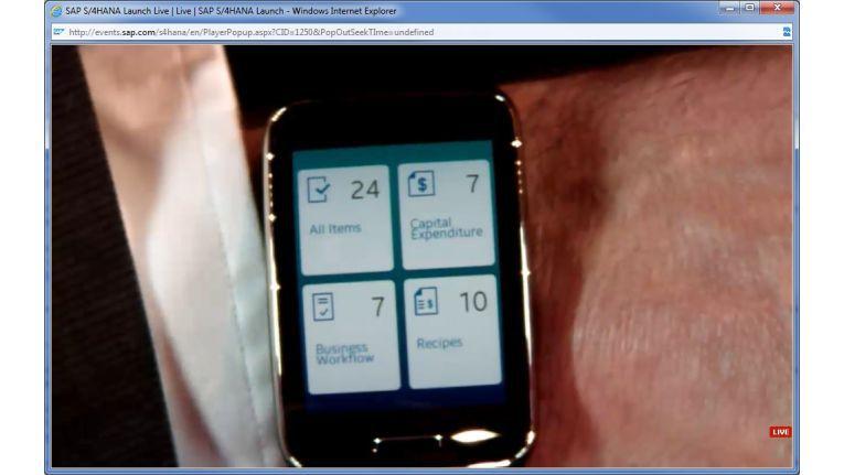 ERP am Handgelenk, die neue SAP-Suite macht es möglich.