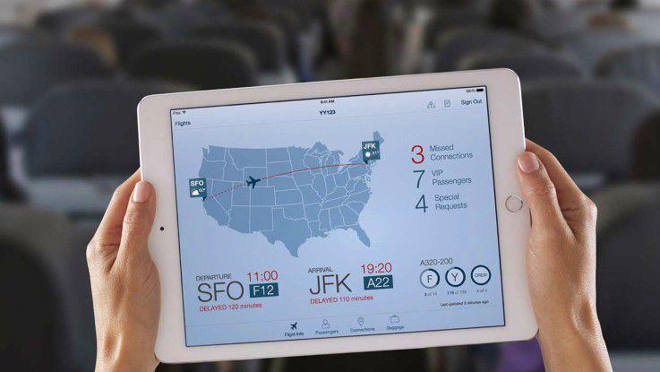 Die iPad-App Passenger+ soll dem Bordpersonal zu besserem Kundenservice verhelfen.