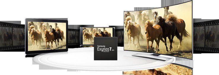 Das Samsung Galaxy S6 wird keinen Qualcomm-Chip bekommen, sondern ein Exynos-Chipsatz. Verbaut wird ein Exynos 7420 mit acht Kernen und einer maximalen Taktfrequenz von 2,1 Ghz.
