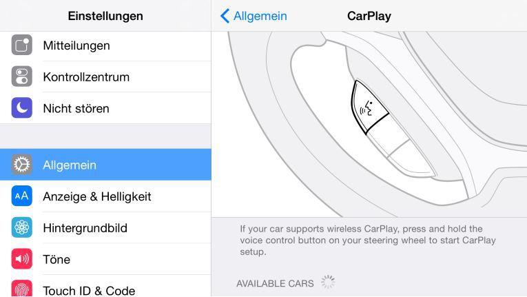 Mit iOS 8.3 lässt sich das iPhone drahtlos mit CarPlay verbinden.