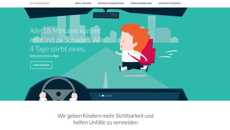 """Mit der """"Schutzranzen""""-App im Smartphone oder Navi werden Autofahrer zu wahren Schutzengeln werden."""