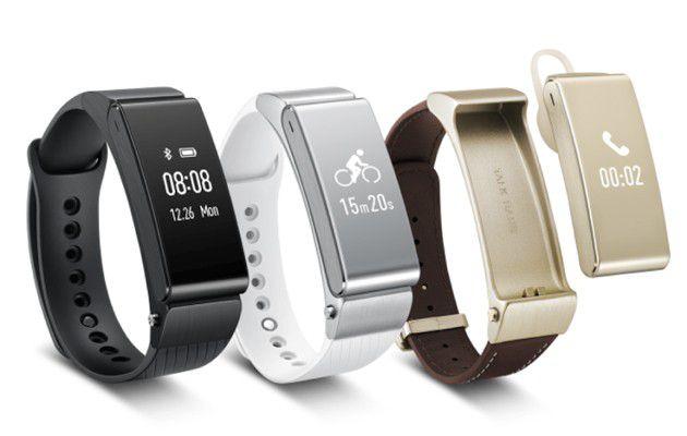 Das Huawei TalkBand B2 ist Fitness-Tracker und Bluetooth-Headset zugleich.