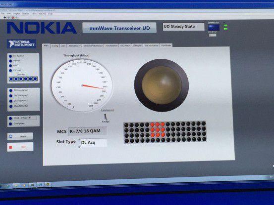Auf dem MWC demonstriert Nokia 5G-Übertragungsraten von über 2 GBit/s via Beamforming.