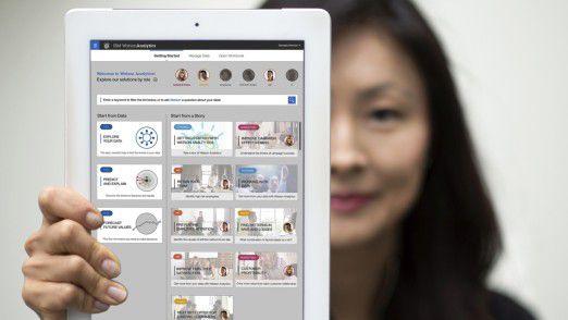 IBM Watson Analytics auf einem Tablet
