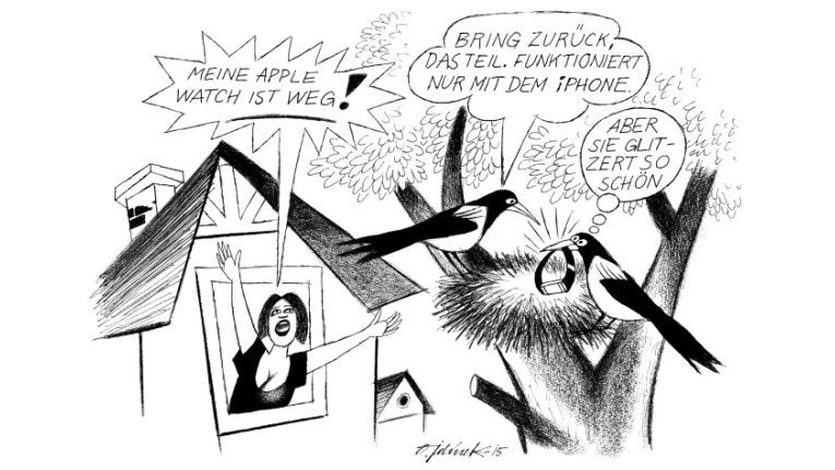 "Cartoon klein 12/2015 678 - ""Apple Watch"""