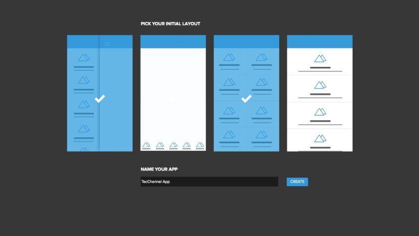 Was das Design der Apps angeht, wartet das Tool mit verschiedenen Layout-Optionen auf, die sich flexibel anpassen lassen.