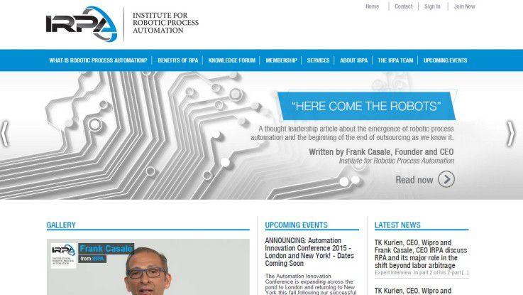 """Das frisch gegründete Institute for Robotic Process Automation (IRPA) untersucht den neuen Trend der """"Roboter-Services""""."""
