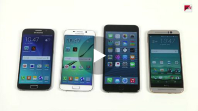 Top-Smartphones im Vergleich: Galaxy S6/S6 Edge vs. iPhone 6 Plus vs. One M9 - Benchmark-Test