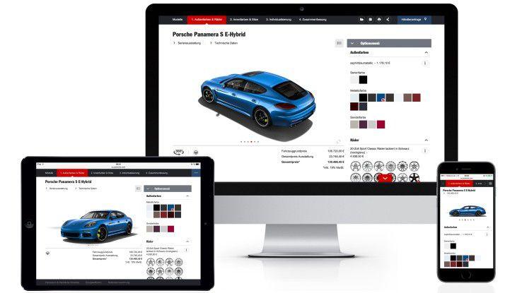 """Porsche hat seinen Online-Konfigurator überarbeitet und bietet seinen Kunden das Tool nun im """"responsive design"""" an."""