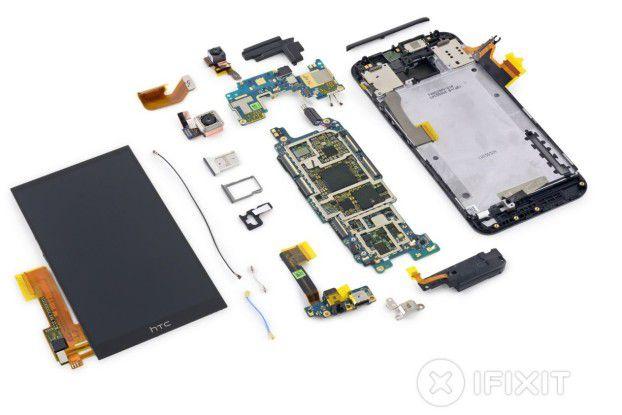 Das HTC One M9 schnitt im iFixit-Teardown nicht sehr gut ab.