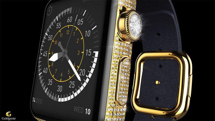 Watch Diamond Ecstasy: Wer diese Apple Watch von Goldgenie trägt, der hat zwischen 45.596 und 145.200 Euro ausgegeben.