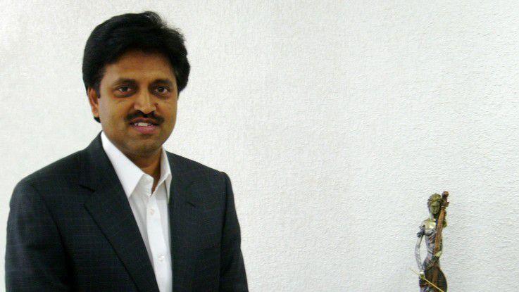 Damals hatte er noch gut lachen: Satyam-Gründer Ramalinga Raju im Jahr 2008, kurz bevor der Betrugsskandal aufflog. Die Haarpracht hat sich inzwischen beträchtlich gelichtet.