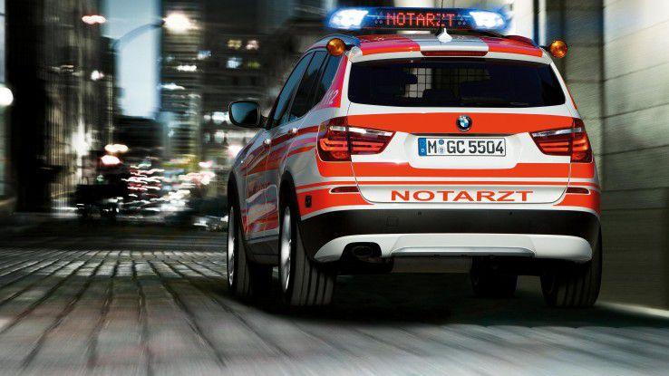 BMW vernetzt Rettungs- und Einsatzfahrzeuge mit ihren Leitstellen.