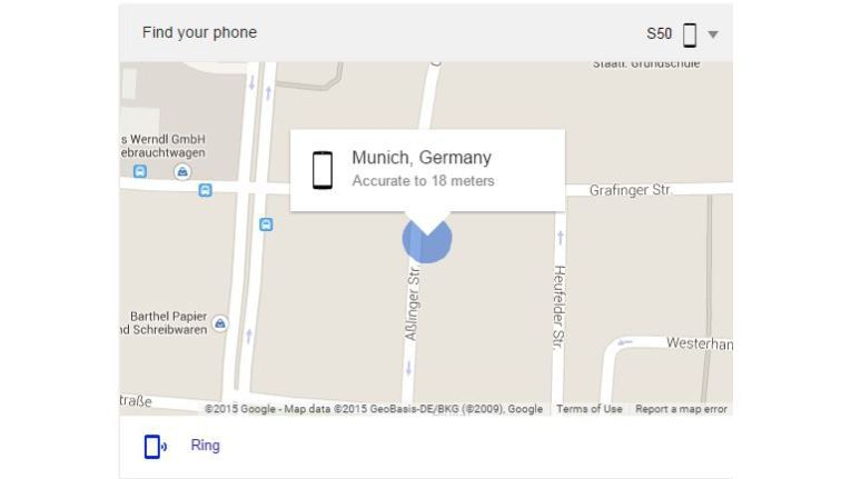 Orten leicht gemacht - über die Google-Suche