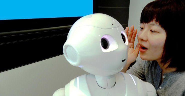 """Im SoftBank-Roboter """"Pepper"""" kommt IBM-Watson-Technologie zum Einsatz."""