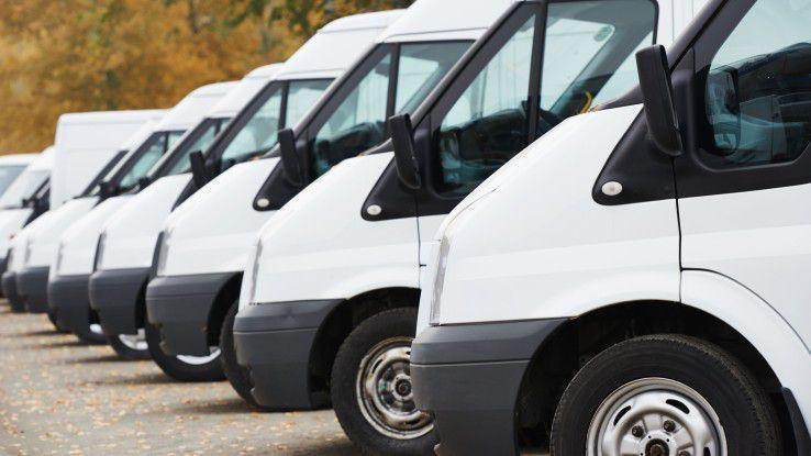 Autos von Servicetechnikern, die auf dem Hof stehen, bringen dem Unternehmen kein Geld ein.