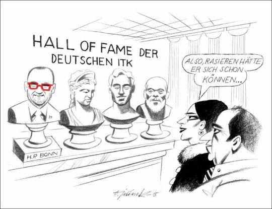 Der Karikaturist der COMPUTERWOCHE sieht Heinz-Paul Bonn so...