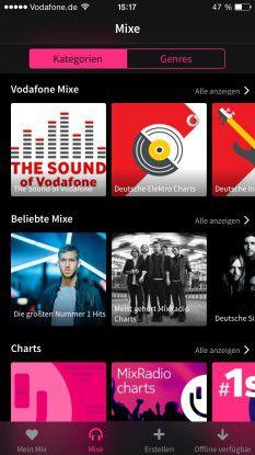 Mixradio auf dem iPhone
